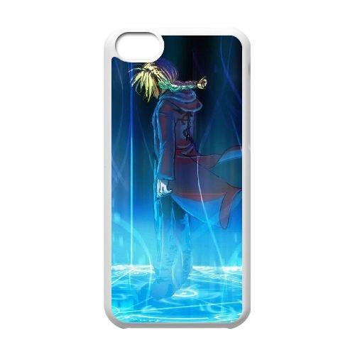 C6N54 Fullmetal Alchemist L6E2MD cas d'coque iPhone de téléphone cellulaire 5c couvercle coque blanche KO8FUX4FX