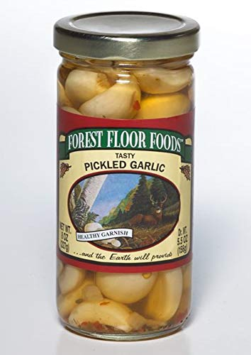 Forest Floor Foods Premium Pickled Garlic 8 Ounce