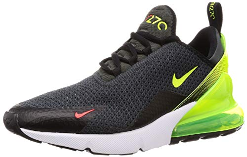 Nike Men's Air Max 270 Anthracite/Volt/Black Mesh Cross-Trainers Shoes 14 M US