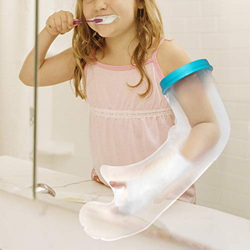 - Kids Arm Cast Cover for Shower, Waterproof Children Cast Bandage Cover for Wrap The Injury, Wound, Burn, Hand, Finger, Wrist, Arm, Elbow When Bathing with Durable PVC Material - 20Inch