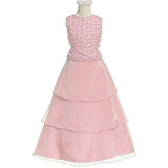 Amazon.com: Formal Girl Holiday Party Dress or Flower Girl Dress ...