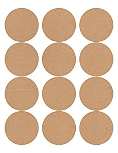 60 Circle Wide Mouth Canning Jar and Candle Labels, 2.5 inches round, Brown Kraft