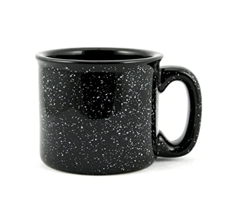5acfbdf20da Amazon.com: Marble Creek Ceramic Campfire Mug, 15oz - Set of 4 (Black):  Kitchen & Dining