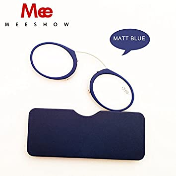 3e80be75d5f3 BuyWorld Gafas New Pod-Reader Nose Clip Reading Glasses Tr90 Mini SOS Power  +1.0-+3.5 Wallet Reader with Case Lunettes Silicon pad 6105A  Amazon.in   Home   ...