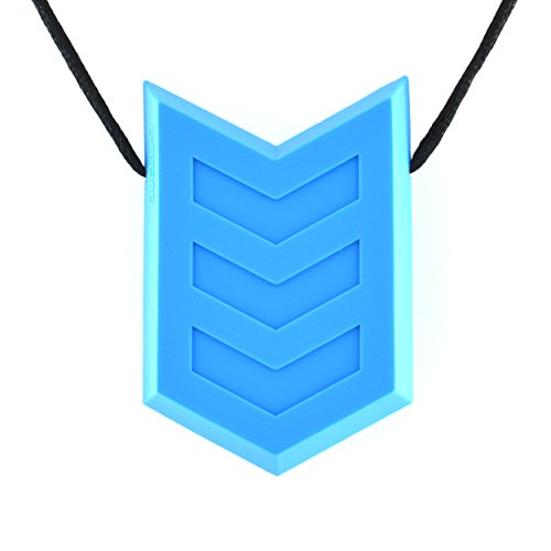 ensory Chewable Necklace for Oral and Tactile Stimulation - Tough Chewelry for Mild Chewers (Blue) ()