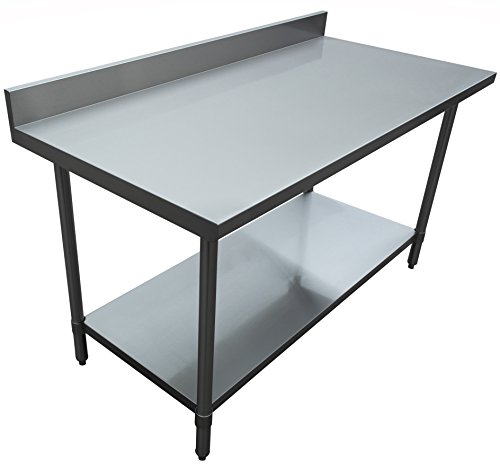 JET Stainless Steel Commercial Utility NSF Kitchen Prep And Work - Large stainless steel work table