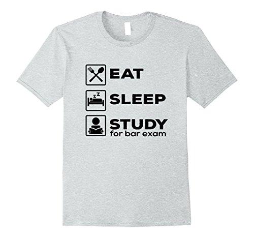 Mens Eat Sleep Study For Bar Exam T-Shirt Lawyer Graduation Gifts Medium Heather Grey
