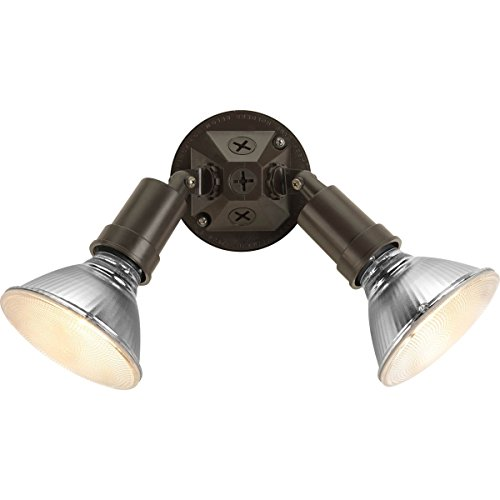 Progress Lighting P5212-20 Double Non-Metallic Par Lampholder In Bronze Finish, Antique Bronze (Par 20 Lampholder)