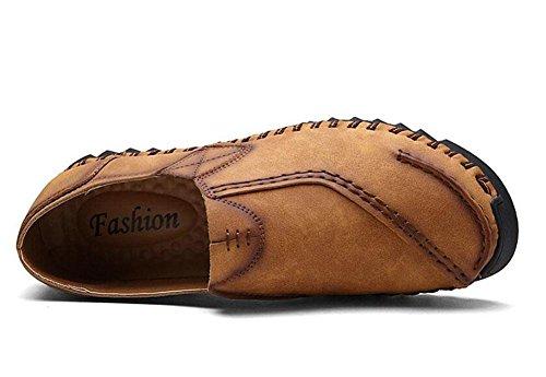 SHIXR Männer Frühling Neue britische wilde Freizeitschuhe Städtische Jugend Tägliche Leben Schuhe Sport Schuhe Bootsschuhe , golden yellow , 39