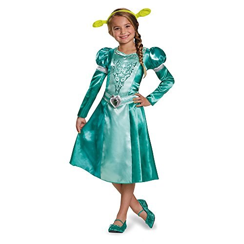 Disguise Fiona Classic Costume, Large (10-12) (Child Shrek Costume)