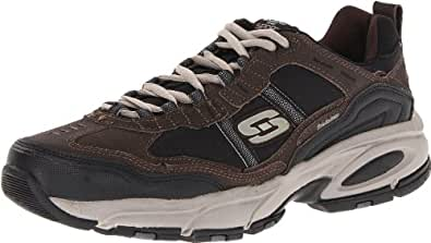 Skechers Sport Men's Vigor 2.0 Advantage Oxford,Brown/Black,8 XW US
