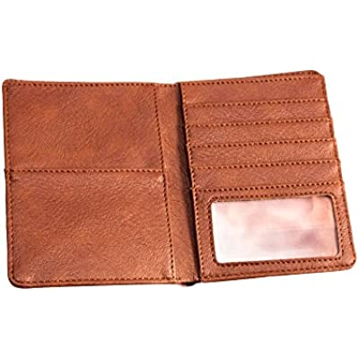 """Sanis Enterprises Brown Passport Wallet, 5"""" H x 3.5"""" L x 1"""" W"""