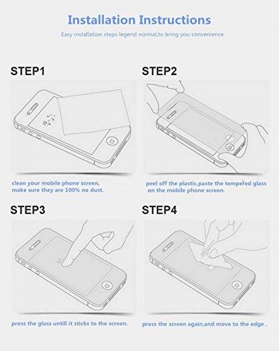 Sunroyal® Anteriore Posteriore-Pellicola Schermo in Vetro Temperato per Apple iPhone 6 / 6S 4.7 pollice Silicone, con Stampa ad Alta Definizione (HD), Anti-graffio Facile da Installare e Effetto Mirro Oro Rosa