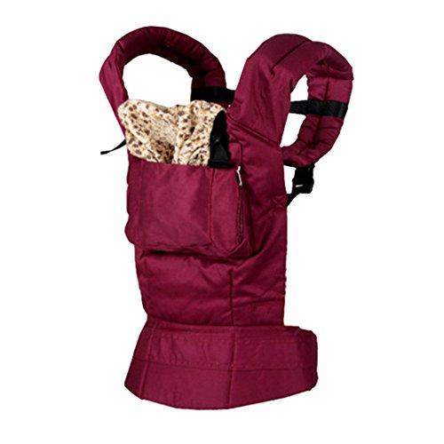 Babytragetücher, iTECHOR Vordere Und Hintere Baby Carrier Baby Comfort Rucksack Sling Wrap-Sicherheitsgurt -Purpurrot