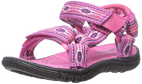 Teva Hurricane 3 Sport Sandal (Toddler/Little Kid/Big Kid), Monterey/Raspberry-T, 4 M US Toddler - Sport Shoe Raspberry