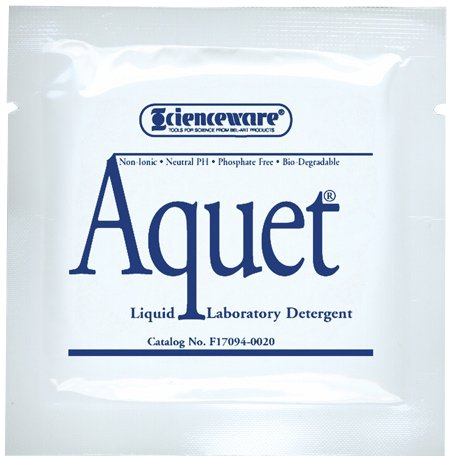 Bel-Art Aquet Detergent Concentrate for Glassware and Plastics; 20 ml Pouches (Pack of 20) (F17094-0020)