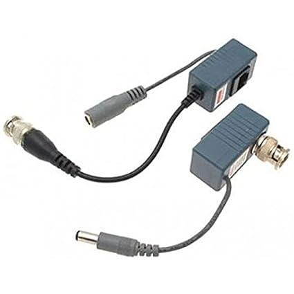 Evertech 16 Pairs (32 Pcs) CCTV Video Power Balun BNC to Cat5 Cat6 UTP