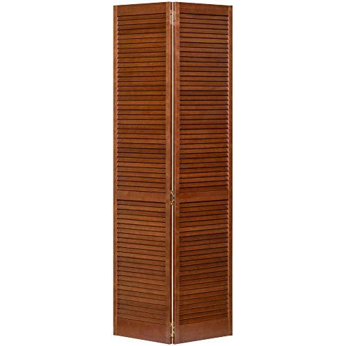 Kimberly Bay Traditional Louver Louver Espresso Solid Core Wood Bi-fold Door (80x36) (Wood Bifold Doors)