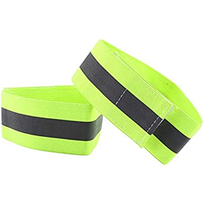 Pair High Visibility Band Reflective Wristbands Elastic Ankle Wrist Bands For Waling Cycling Running Outdoor Sports Estimated Price £8.39 -