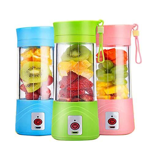denshine Multifunctional Electric Juicer Mini Mixer Blender Vegetables Fruit Squeezers Reamers Bottle Portable Cup-Shape Juicer for Fruit Juicer and Vegetable Juicer (Pink)