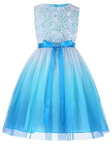 GRACE KARIN Sleeveless Bridesmaid Flower Girl Organza Dresses 7-8yrs CL438-2 -