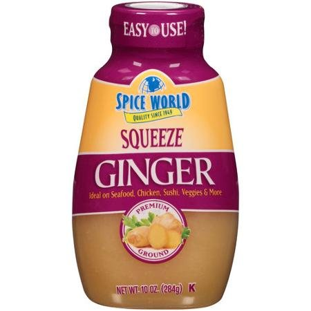 Spice World Squeezeable Premium Ground Ginger, 10 Ounces (2 Pack) by Spice World