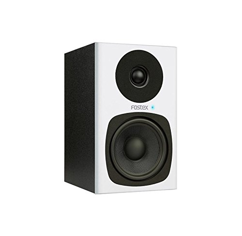 Fostex PM04C 2-Way Studio Monitor with 4-Inch Woofer, Pair, White (PM04C-W)