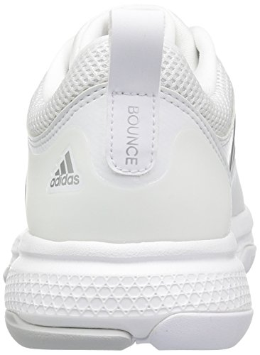 adidas Damen Barricade Classic Bounce Tennisschuhe Weiß / Metallic Silber / Light Solid Grey Heather