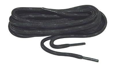 GREATLACES 2 Pair Pack - Black w/Black Kevlar Reinforced proTOUGH 6mm Thick Heavy Duty Boot Laces Shoelaces