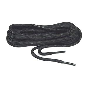 Black w/ Black Kevlar proTOUGH(tm) Reinforced Heavy Duty Boot Laces Shoelaces (2 Pair Pack)
