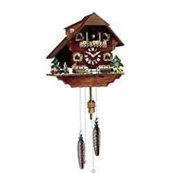 Hermle Black Forest Clocks Cuckoo Clock with Four Dancing Figurines