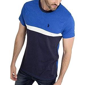 U.S. Polo Assn. Black Mallet Mens Burnout Camo Print Short Sleeve T-Shirt