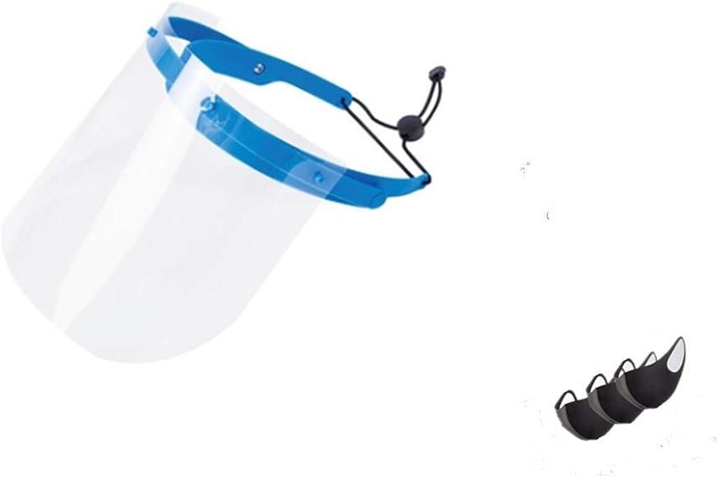 Prueba de Polvo Protección para los Ojos Sombrero Protector Tamaño Ajustable Protección Facial Protección para los Ojos Máscara Protectora Transparente Máscara Facial Visiera extraíble, 10 Piezas