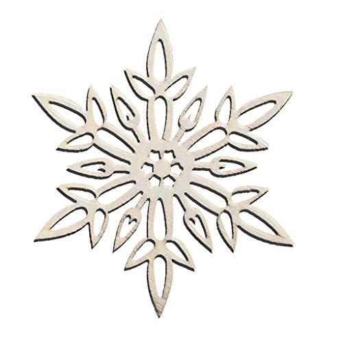 Colorzonesd Christmas Snowflake Wooden Pendants Christmas Tree