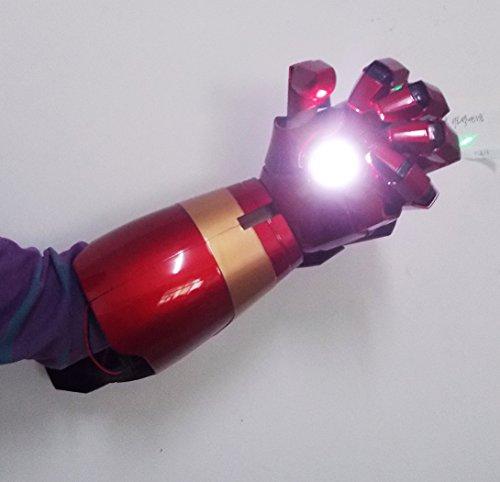 2017 Motorized Iron Man MK43 Wearable Arc FX Wrist Armor Gauntlet 1:1 Replica (Iron Man Cosplay Armor)