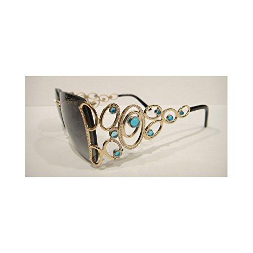 Caviar 6849 Sunglasses Gold (C55) Crystal Stones Authentic - Sunglasses Caviar