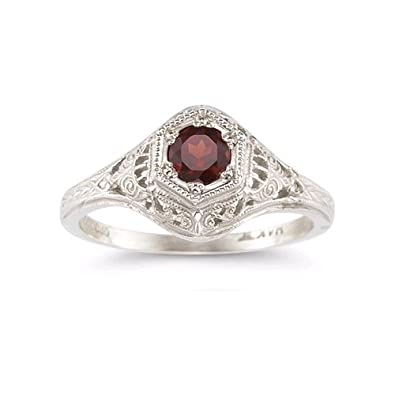 Amazoncom Enchanted Ruby Ring in 925 Sterling Silver Victorian