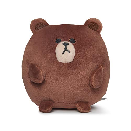 - LINE FRIENDS Plush Figure - Brown Character Design Stuffed Animal Toy, PongPong Standing Small