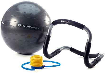 MERRITHEW Halo Trainer with Stability Ball (21.7 inch / 55 cm) & Pump [並行輸入品]