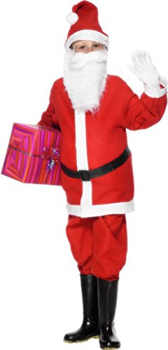 [Christmas Child Fancy Dress party Santa Boys Costume Outfit 9-12 Years] (Used Fancy Dress Costumes Ebay)