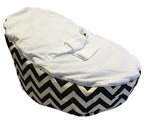 Used, BayB Brand Baby Bean Bag - Filled - Black Chevron for sale  Delivered anywhere in USA