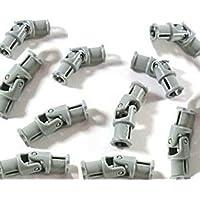 LEGO Technic - 10 x junta universal pequeña en gris claro nuevo, 3 tacos largos