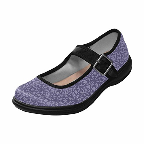 Interestprint Femmes Confort Mary Jane Appartements Casual Chaussures De Marche Multi 4