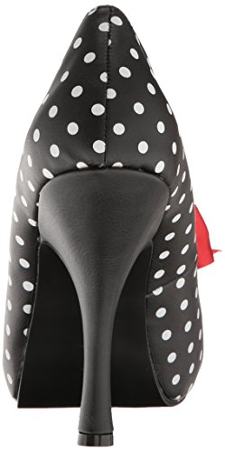 Pleaser Women's Pinup05/b-Wpu Platform Pump Blk-wht Dot Faux Leather outlet for sale KCJSKQ