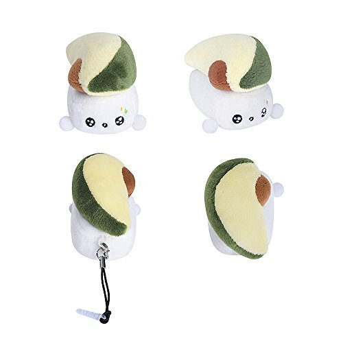 Cotton Food New ChoBa (Sushi) Plush Cellphone Charm Headphone Jack Plug Charm (Avocado)