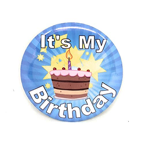 Happy Birthday Button (Secure ID, LLC It's My Birthday Button Happy Birthday Fun Birthday Made in The)