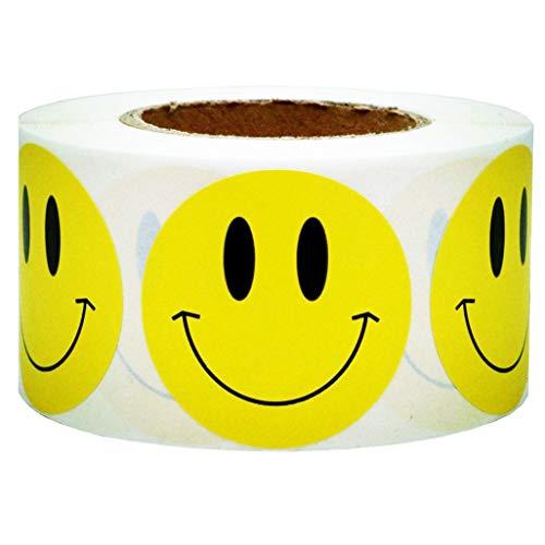 (SMARSTICKER Yellow Smiley Face Happy Stickers 2