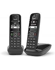 Gigaset AS690A draadloze telefoon, Zonder antwoordapparaat, Duo, zwart.