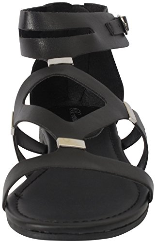 Breckelles Isabel 27 Womens Strappy Wrap Around Lace Up A Punta Tacco Alto Nero