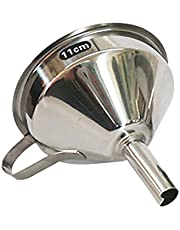 potato001 11 13 15Cm Stainless Steel Cone Funnel Pour Oil Liquid Hopper Kitchen Home Tool S One Size Multi